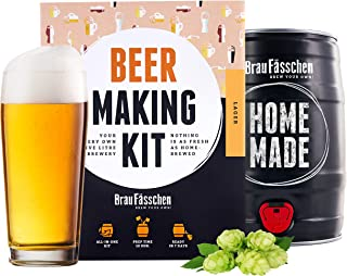 BrewBarrel Kit de Brassage Bière Blonde - Fabrication de la Bière Faites Votre Bière en FUT 5L - Cadeau Homme - Braufässchen