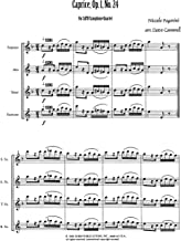 Caprice, Op.1, No.24 for Saxophone Quartet by Niccolo Paganini