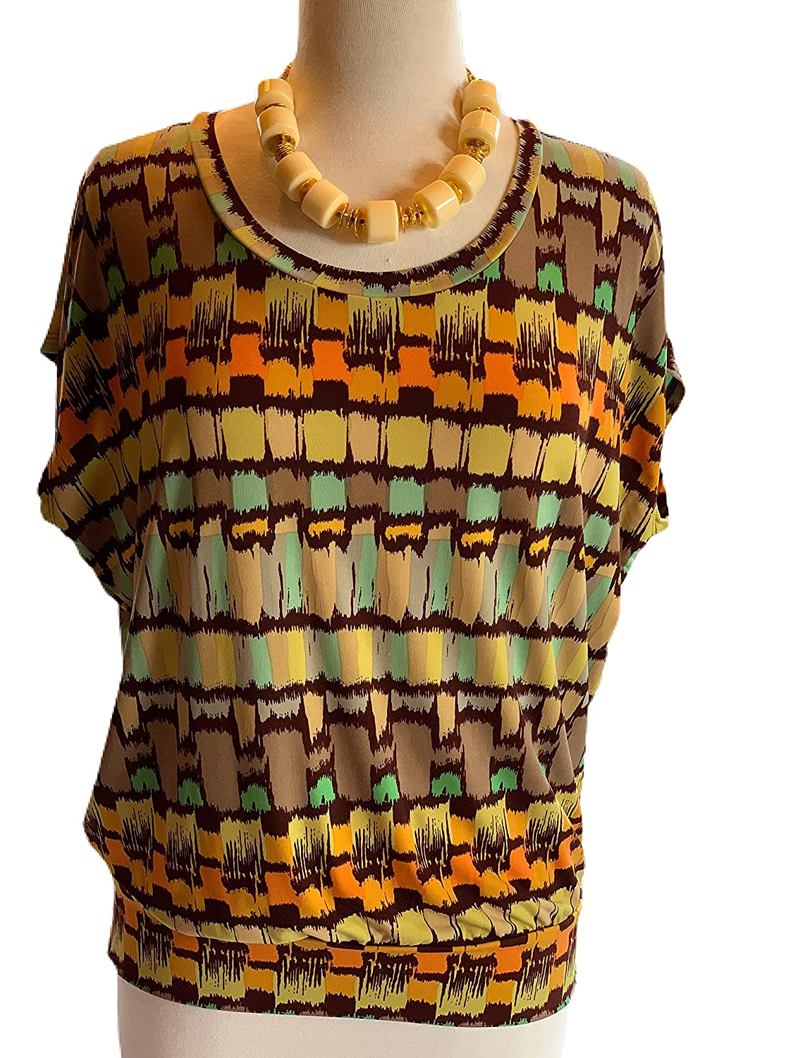 Custom Couture S Mod Midcetury tunic with nec Purchase mod Sales crem statement
