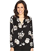Lucky Brand - Black and White Peasant Top