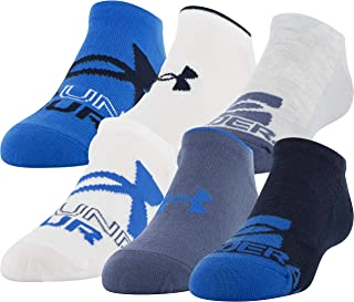 Under Armour Unisex-Child Essential Lite No Show Socks, 6-Pairs Socks (pack of 6)