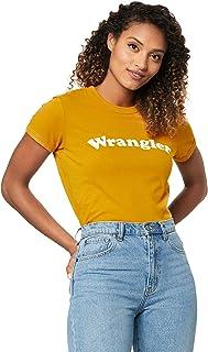 Wrangler Women's Revel Ringer TEE Vintage Gold, Yellow