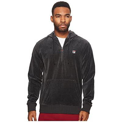 Fila Velour Hoodie Jacket (Heather Charcoal) Men