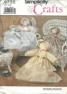 Simplicity 9735 Sewing Pattern Crafts Heirloom Doll & Clothes Size 18