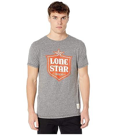 The Original Retro Brand Vintage Tri-Blend Lone Star Beer T-Shirt (Streaky Grey) Men