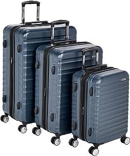 "AmazonBasics Premium Hardside Spinner Luggage with Built-In TSA Lock - 3-Piece Set (21"", 26"", 30""), Navy Blue"