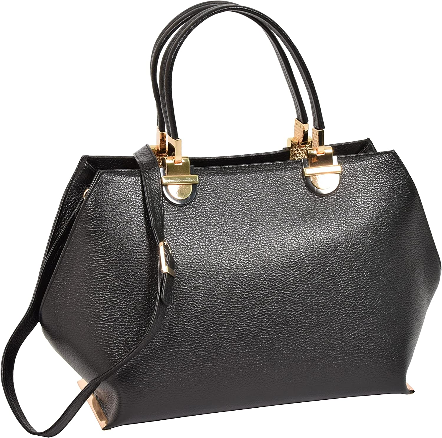 Womens Classic Real Leather Handbag Work Fashion Casual Bag H343 Black