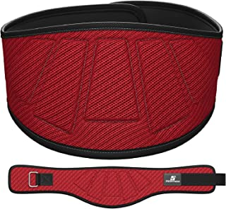 ProFitness Weightlifting Belt (6-Inch-Wide) – Proper Weight lifting Form – Unisex Back Support for Cross Training Exercises, Powerlifting Workouts