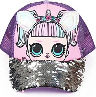 FAB Starpoint L.O.L. Surprise Purple Sequin Trucker Unicorn Cap