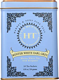 Harney & Sons Winter White Earl Grey Tea, 20 Tea Sachets, 0.9 oz (26 g)