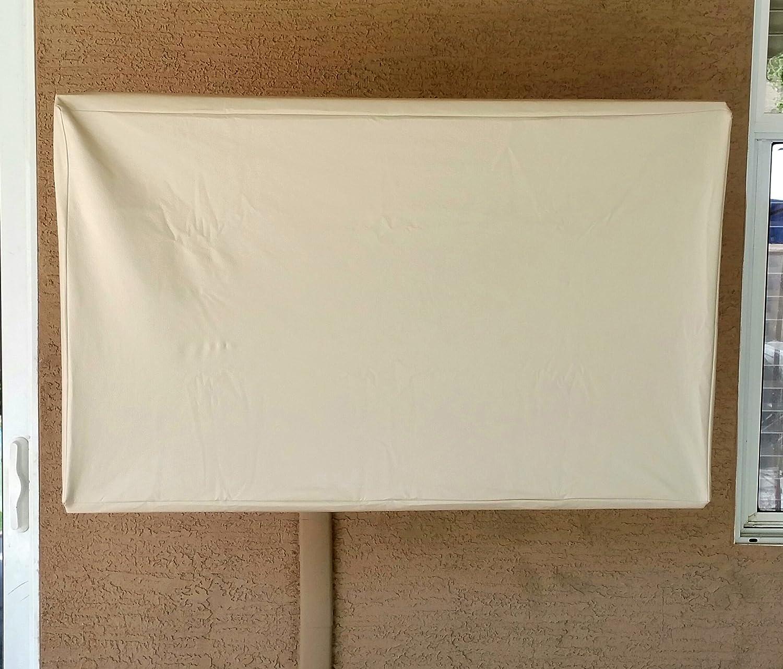 Universal 60  LCD   Plasma TV Dust Cover Indoor Outdoor Cream