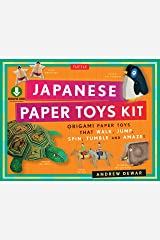 Japanese Paper Toys Kit: Origami Paper Toys that Walk, Jump, Spin, Tumble and Amaze! (Downloadable Material Included) Kindle Edition