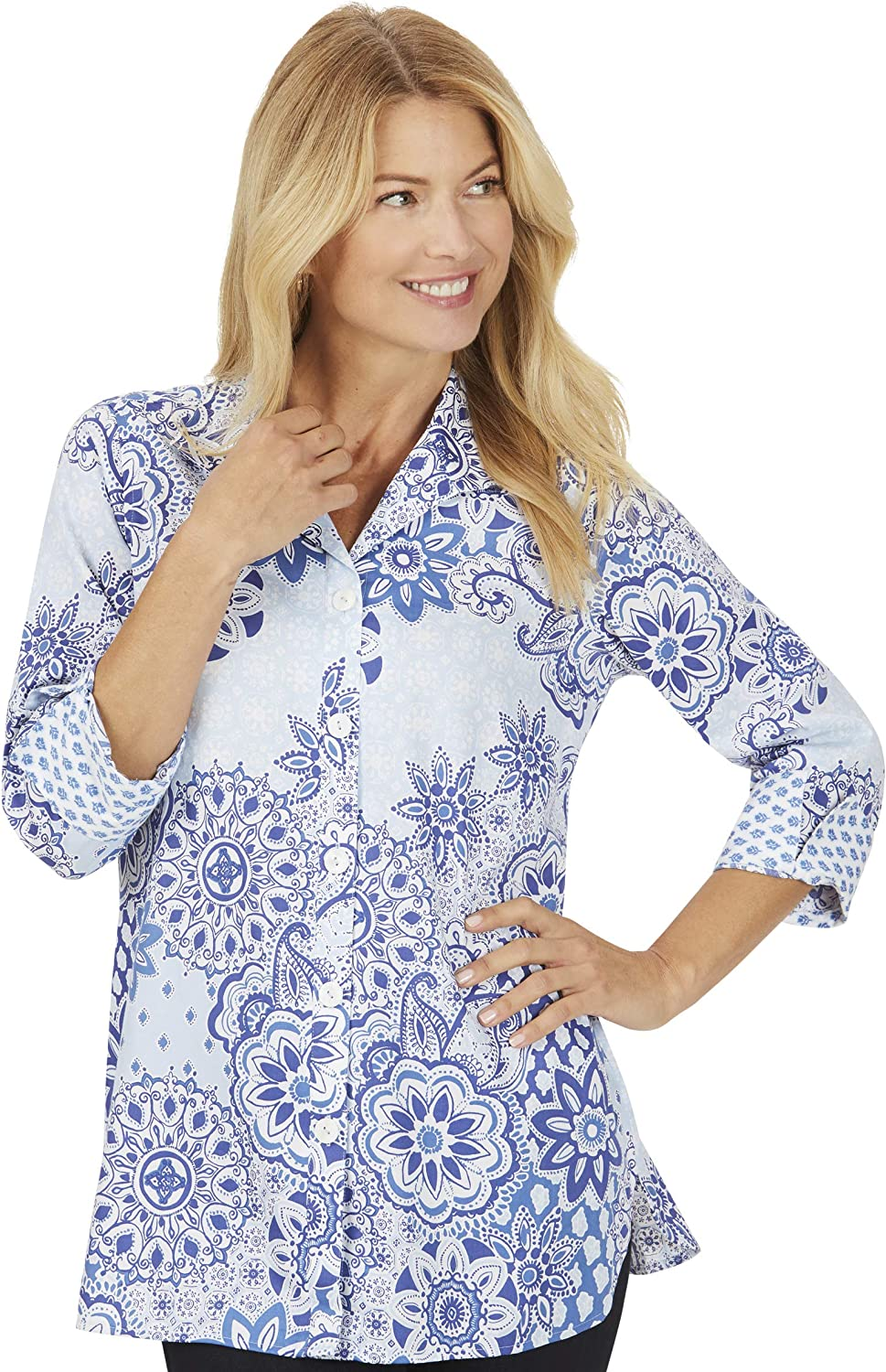 Poppy Wrinkle Free in Tunic Flowing Max supreme 64% OFF Tiles