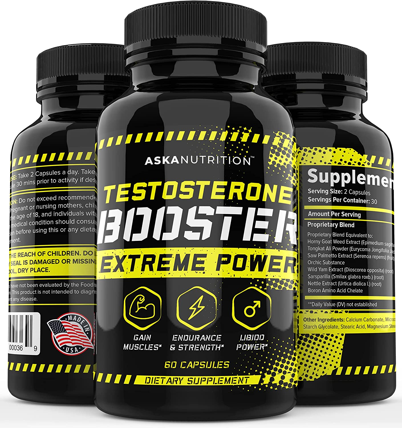 Amazon.com: Testosterone Booster for Men - Natural Test Boost with Horny  Goat Weed & Tongkat Ali - Muscle Builder - Male Enhancing Supplement Growth  - Test Booster - Energy, Desire, Libido Booster -