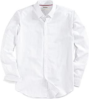 Amazon Brand - Goodthreads Men's Standard-Fit Long-Sleeve Fashion Stripe Oxford Shirt