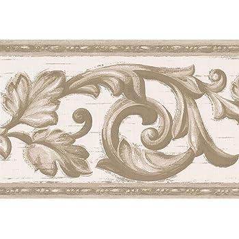 piante di vite; colore Carta da parati autoadesiva in PVC stile greca grigio LoveFaye per decorare i bordi delle pareti e le piastrelle di cucina e bagno; motivo