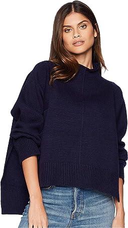 Mock Neck Boxy Sweater