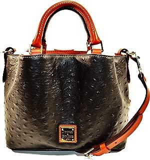 Dooney & Bourke MINI Barlow Ostrich satchel Black