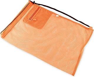 Containers By Aline- Bolsas De Red Deportiva- Bolsa De Almacenamiento con Cordón para Natación. Color Naranja