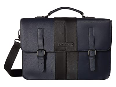 Ted Baker Iced Twill PU Satchel (Navy) Briefcase Bags