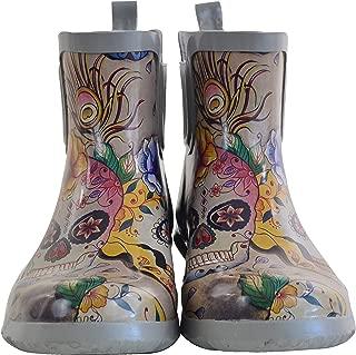 Women's Ankle Rain Boot | Handmade Waterproof Natural Rubber | Memory Foam Insole
