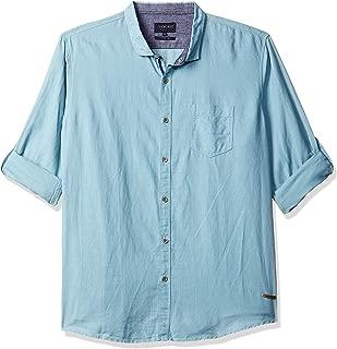 CHEROKEE Men's Solid Regular Fit Casual Shirt (400017734057_AIRFR-Blue_XXL)