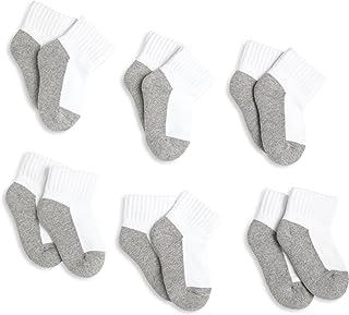 Jefferies Socks, Llc Unisex Baby 6 Pack Seamless Sport Half Cushion Quarter Socks