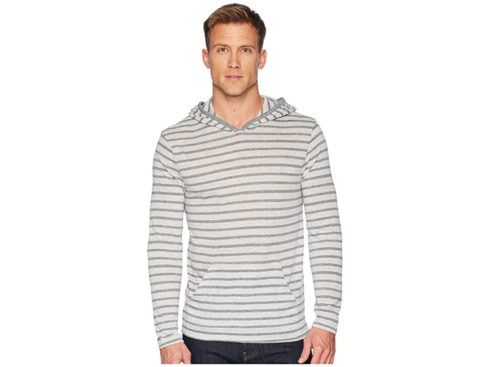 Alternative Marathon Pullover Hoodie (Eco Grey Riviera Stripe) Men