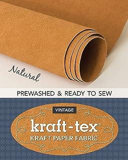 Kraft-Tex Roll, Natural Prewashed: Kraft Paper Fabric