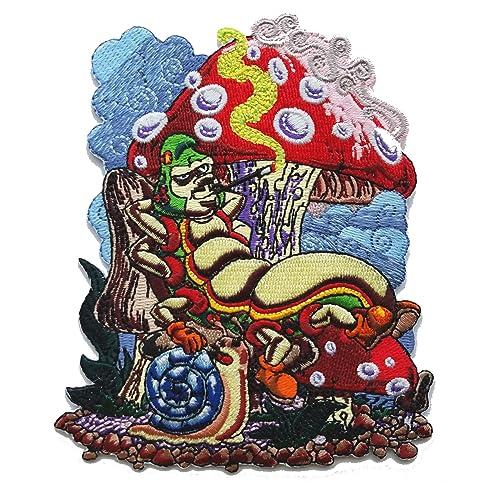 MUSHROOM Iron On Patch Food Mushrooms