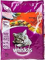 ويسكاس طعام القطط بطعم غورمية بالماكولات البحرية - 3 كغ