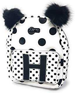 justice polka dot initial backpack