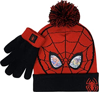 Spiderman Winter Hat and Glove Set, Boys Cuff Beanie Ages...