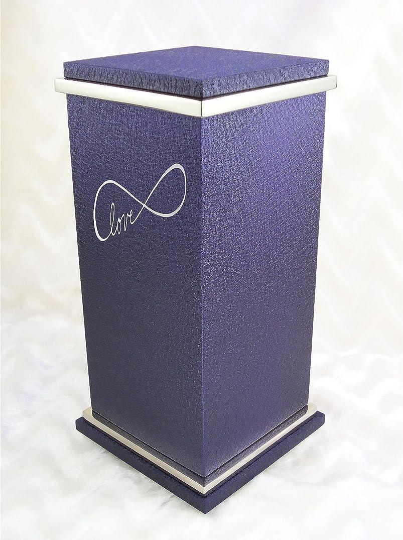 櫛粒想起Personalizedカスタム彫刻Infinite Love Cremation Urn Vault by Amaranthine Urns , Made in the USA , Paintedシルバートリム Peyton - up to 250 lbs グレー