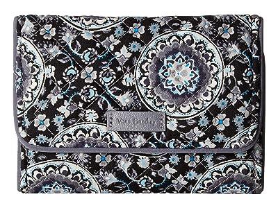 Vera Bradley Iconic RFID Riley Compact Wallet (Charcoal Medallion) Wallet Handbags