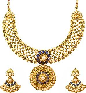 Touchstone Indian Bollywood Gorgeous intricate Workmanship Mughal White Colorful Rhinestone crystal wedding Designer Jewel...