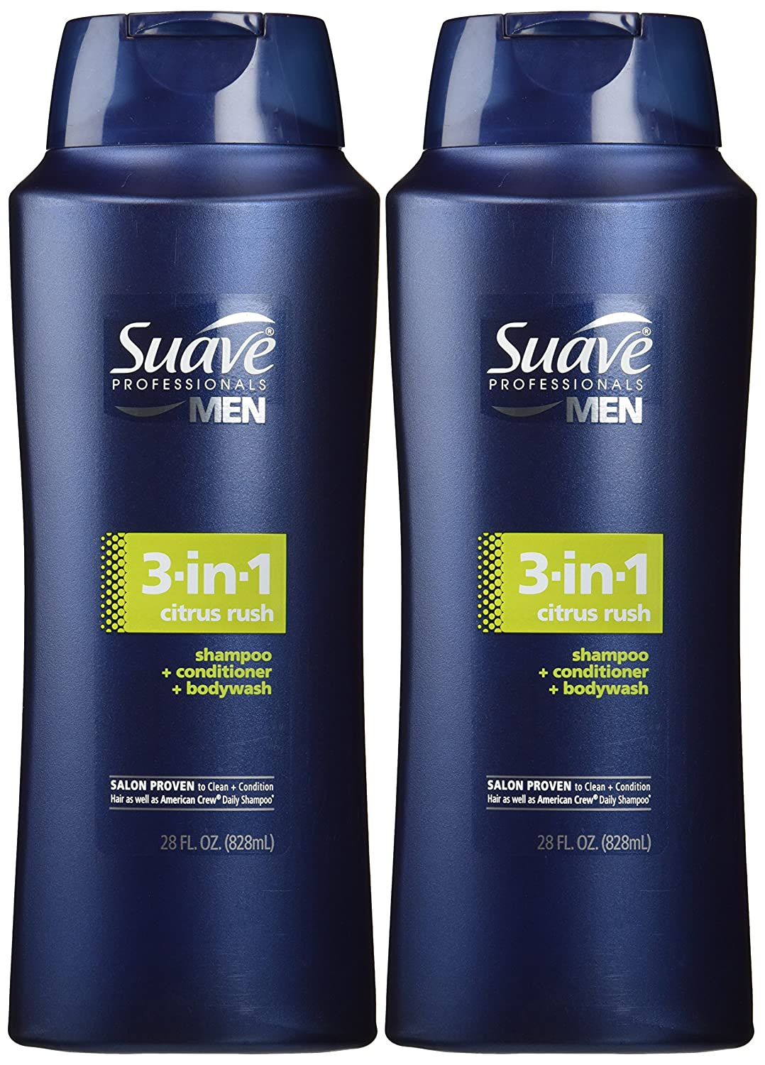 Suave Men 3 in NEW 1 Shampoo Conditioner Wash Year-end gift Citrus and 2 Body Rush