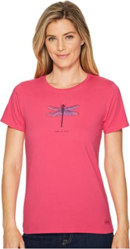 Life is Good Beautiful Dragonfly Crusher Tee