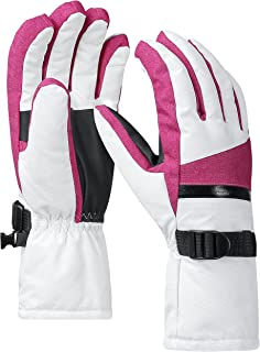 Waterproof Winter Warm Ski Gloves 3M Thinsulate Snowmobile Cold Weather Gloves for Men, Women, Adult