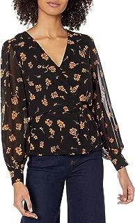 ASTR the label Women's McKenna Long Sleeve Wrap Top