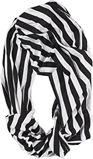 Nursing Cover – Breastfeeding Cover, Infinity Scarf, Baby Car Seat Canopy, Shopping Cart, Stroller, Infant Seat Covers for Girls and Boys, Unisex Multi-Use Blanket, Black and White Stripes