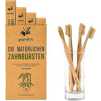 Pandoo, Cepillos de dientes de bambú para niños - 1 de 4 unidades ...