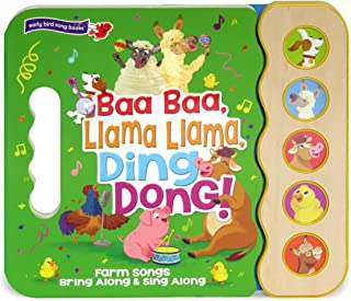 Baa Baa, Llama Llama, Ding Dong!: 5-Button Children's Sound Book (5 Button Sound) (Early Bird Song Books 5 Button)