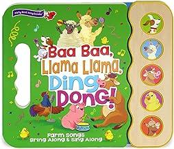 Baa Baa, Llama Llama, Ding Dong!: 5-Button Children's Sound Book (5 Button Sound) (Early Bird Song Books)