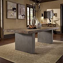 iNSPIRE Q Artisan Blake Reclaimed Wood and Concrete Dining Table by - Burgundy