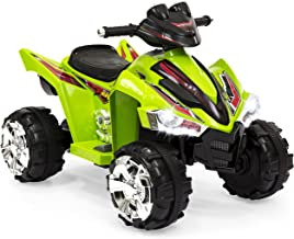 Best Choice Products Kids 12V Battery Powered Ride On 4-Wheeler ATV w/ LED Headlights, Forward and Reverse Gears - Green