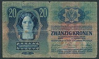 2 Jan 1913 AUSTRIA- HUNGARY 20 Korona