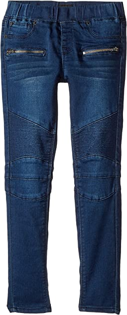 Hudson Kids - Moto Fit Skinny Pull-On Fit Jeans in Nile (Toddler/Little Kids)