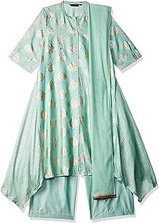 Rangmanch by Pantaloons Women's Rayon straight Salwar Suit Set
