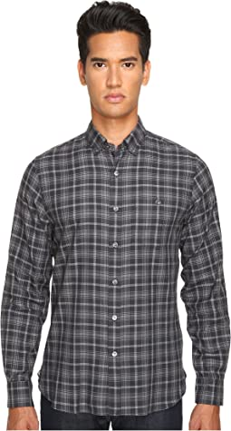 Italian Small Check Button-Up